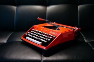 typewriter red retro
