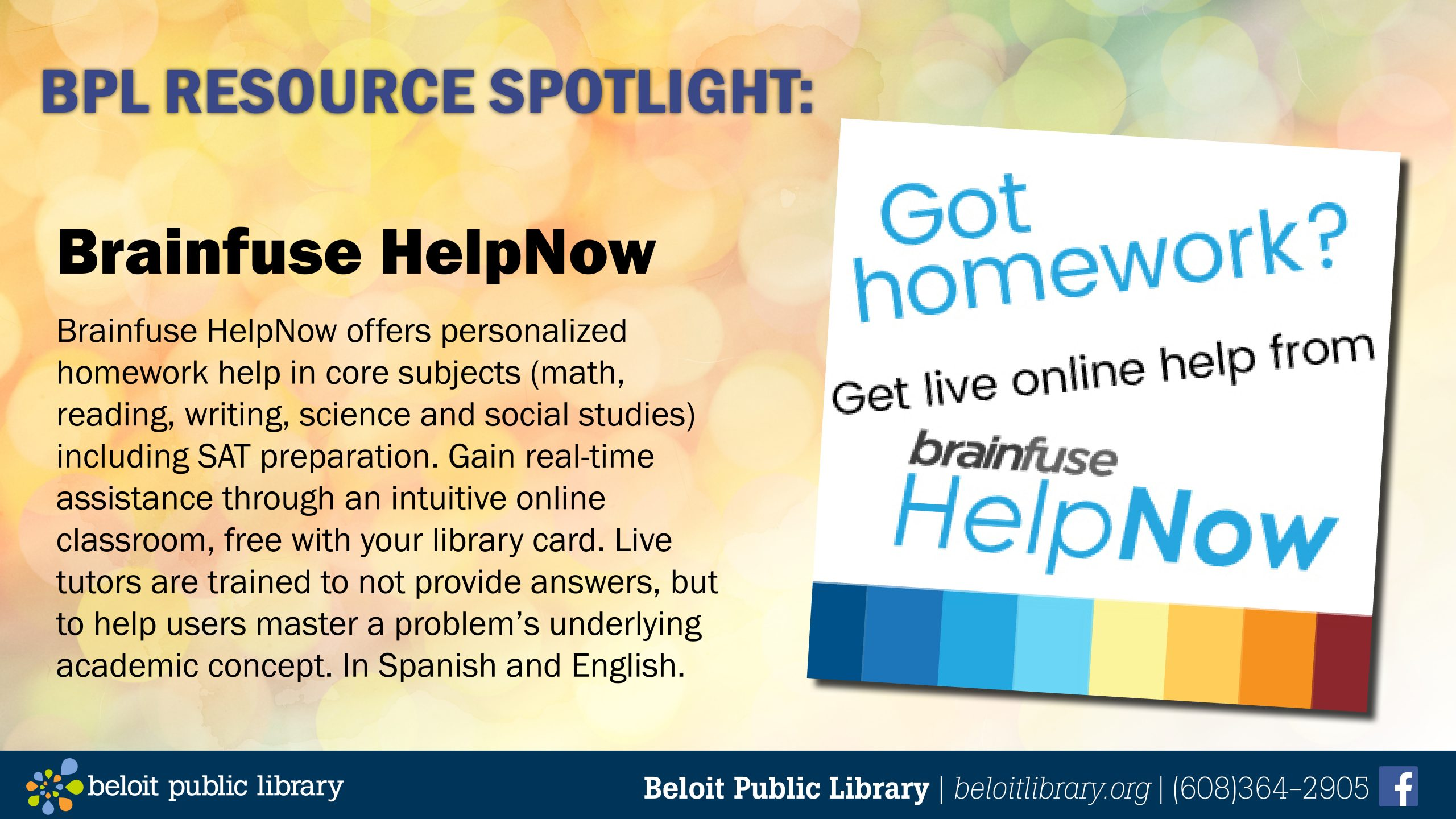 BPL Resource Spotlight: Brainfuse